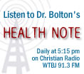 Health Note with Dr. Tony Bolton
